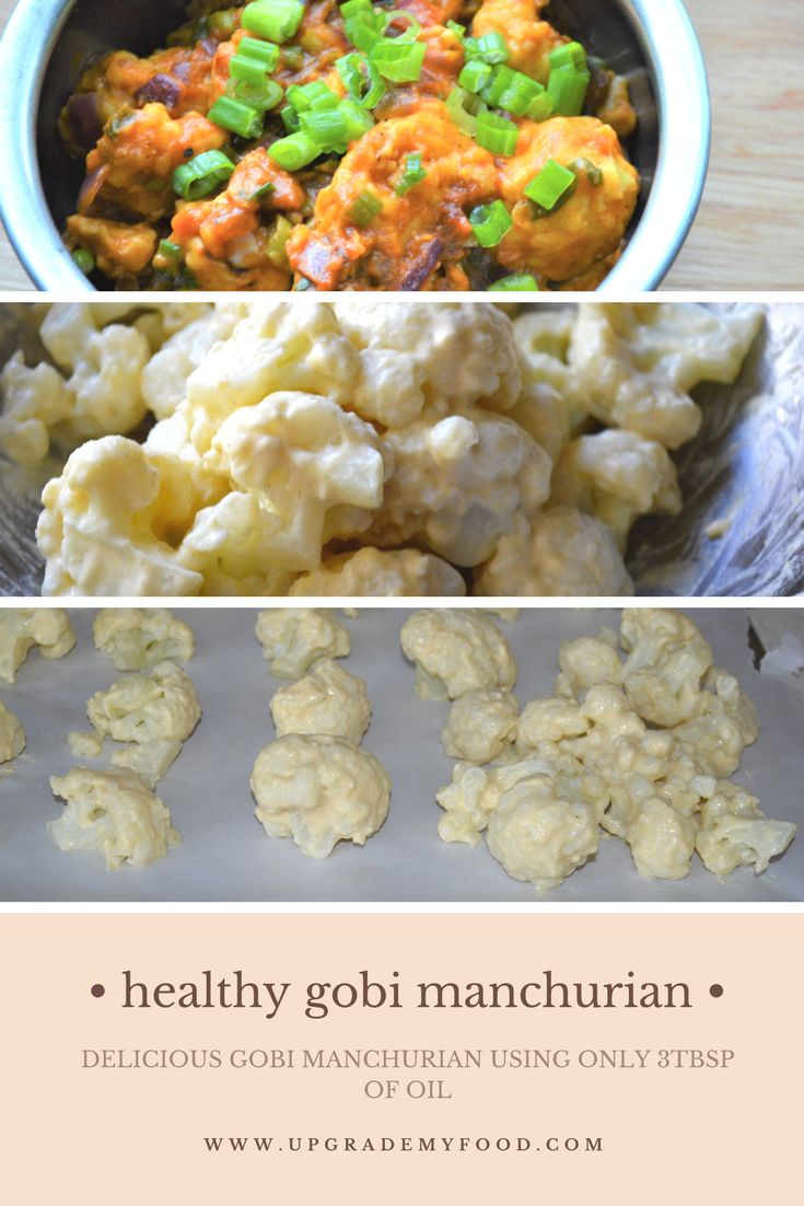 HEALTHY DELICIOUS GOBI MANCHURIAN USING ONLY 3TBSP OF OIL