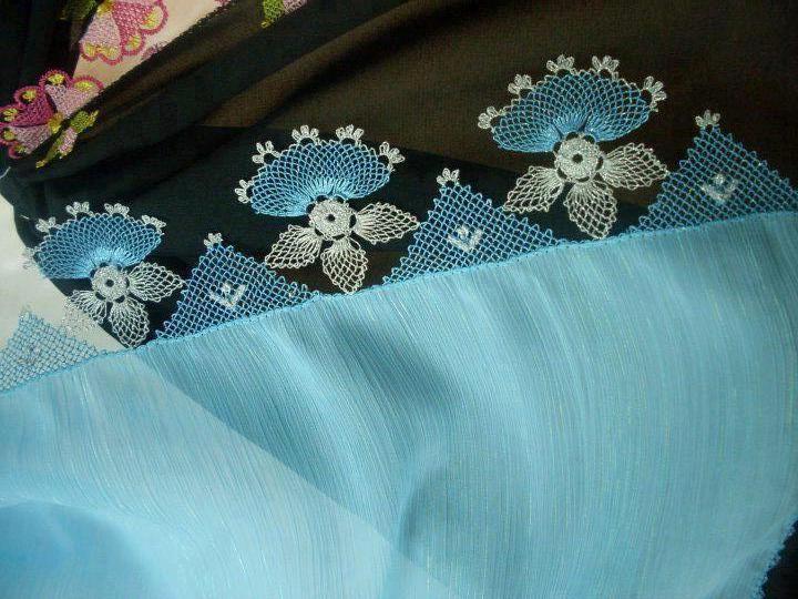 mavi oya Turkish needle lace