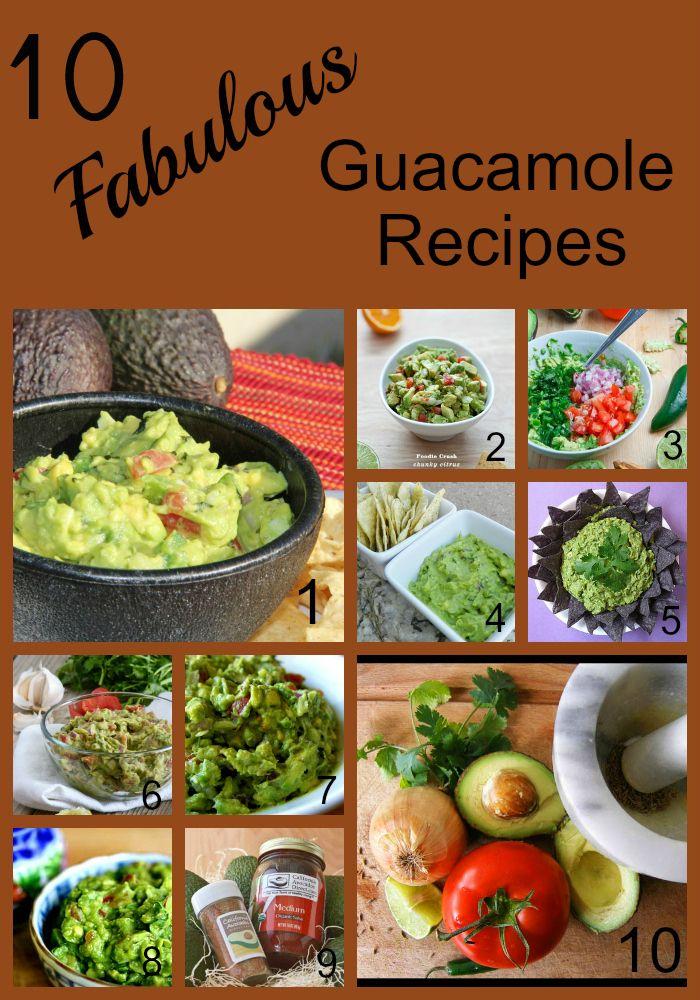 10 Fabulous Guacamole Recipes: 10 Recipes, Avocado Recipes, Guacamole Recipes I, 10 Guacamole, Food, Guacamole Recipes We Ll, Fabulous Guacamole