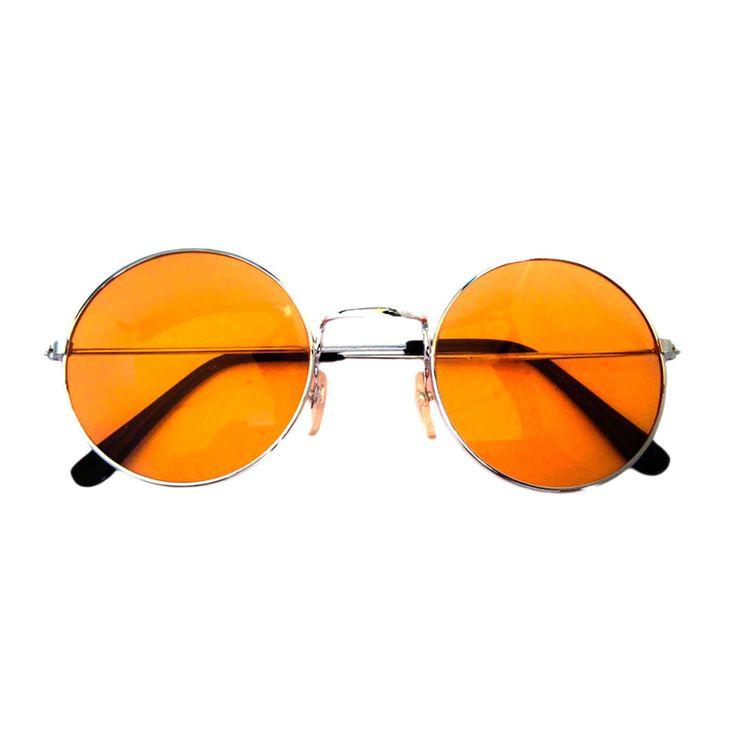 John Lennon Hippie Brille Sonnenbrille Flower Power Herren Damen 60er 70er Peace - orange in Feierlichkeiten / Anlässe   • Karneval Fasching Party • Brillen