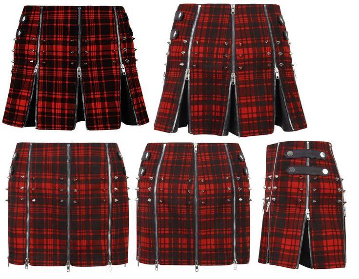 MacPoppy Red Tartan Mini Skirt by Punk Rave