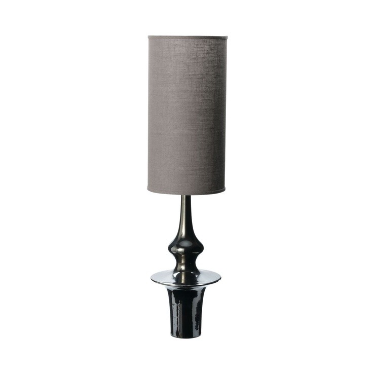 """Gunmetal Spindle Lamp 33.5""""H x 8""""DLamps 335H, Charcoal Fabrics, Gunmetal Lamps, Lighting, Spindle Lamps, Fabrics Shades, Lamps 33 5 H, Lamps Based, Gunmetal Spindle"""