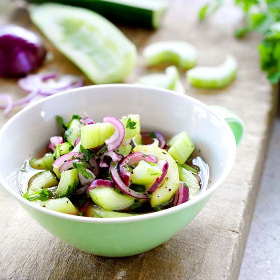 Marineret agurk - Opskrifter
