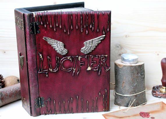 Lucifer, Devil, Make Believer, Book box, Magical Book, Lucifer Morning Star,  Fictional character, Comic Book,  Wings, Spiritual Book,Unisex