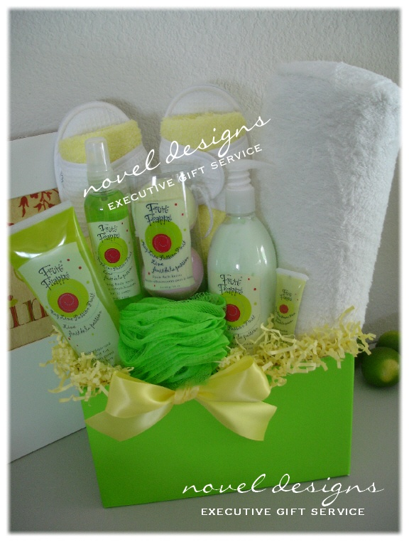 19 best spa pamper relaxation gift baskets images on pinterest freshly squeezed gift basket novel designs executive gift service of las vegas specializing in creating negle Choice Image