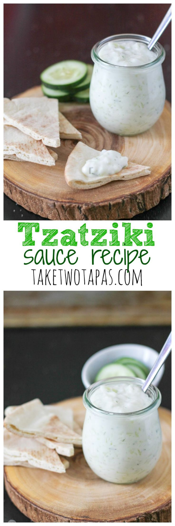 Tzatziki cucumber yogurt sauce is the perfect compliment to chicken, lamb, and even beef. This tangy, dip is heightened with the addition of lemon juice and fresh dill. Tzatziki Sauce Recipe | Take Two Tapas