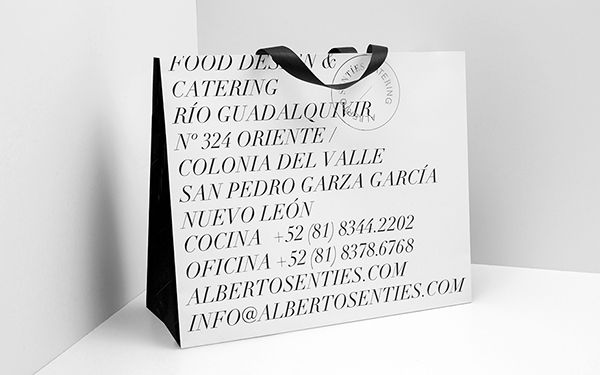 Alberto Sentíes Catering by Anagrama, via Behance
