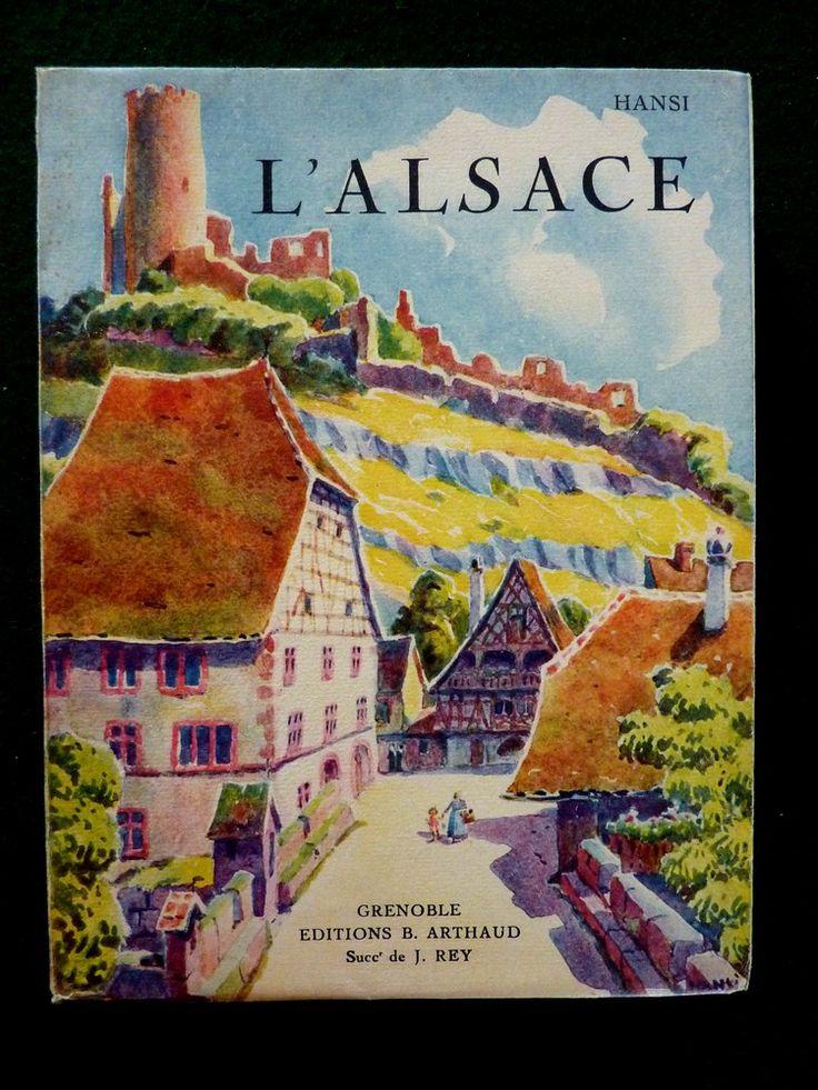 Vintage Travel Poster - Kaysersberg  -  l'Alsace - Hansi Arthaud, 1929.