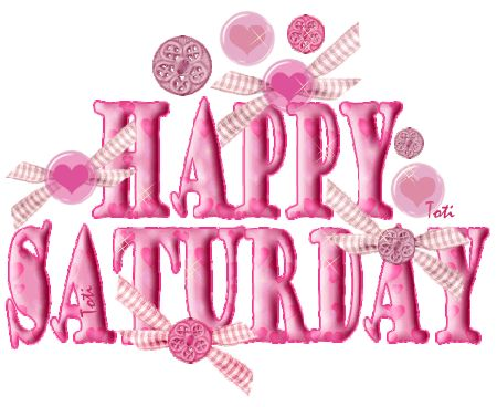 Saturday Clip Art | Glitter Text » Days of the Week » Happy Saturday ... pink
