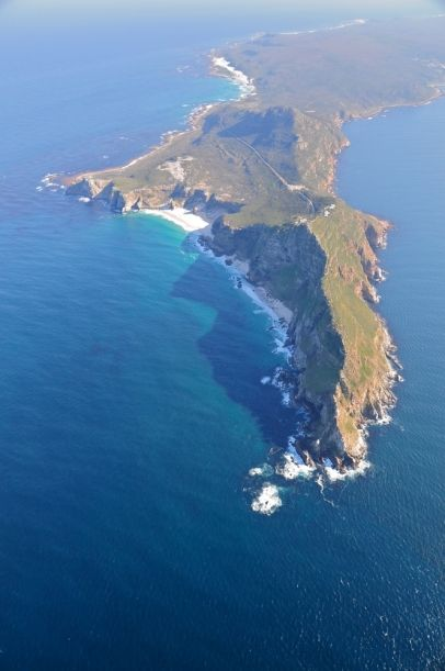 Aerial view of Cape of Good Hope and Cape Point, South Africa
