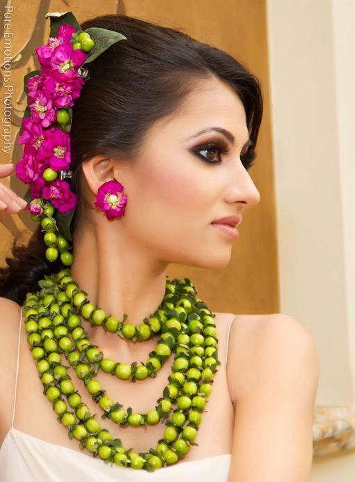 Floral jewelry: tAnirika by www.suhaaggarden.com via IndianWeddingSite.com