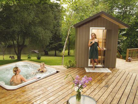 little sauna w/ whirlpool