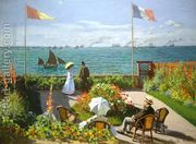 Terrace at the Seaside, Sainte-Adresse by Claude Oscar Monet