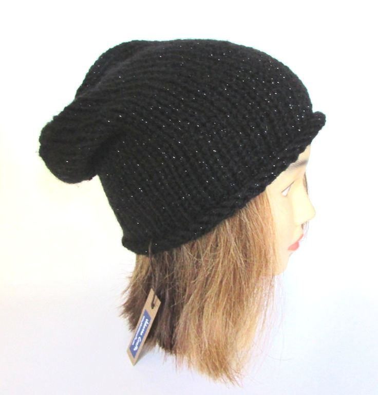 Slouchy Beanie Hat #Black Slouch Hat Metallic Knit Slouchy Hat Irish Knit #Accessory For Women Sparkly Hat Christmas Gift For Her Fun Hat by Johannahats - Found on HeartThis.com @HeartThis | See item http://www.heartthis.com/product/366487204248184833?cid=pinterest