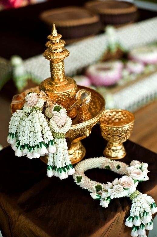 Thai wedding #flowers ~ So unique.  I absolutely treasure opportunities to experience what artistry a peoples gives to the world.