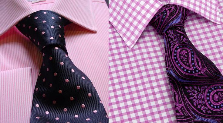 Color de corbata para camisa rosa