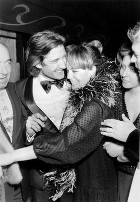 Romy Schneider et son fiance Daniel Biasini le 16 mai 1975