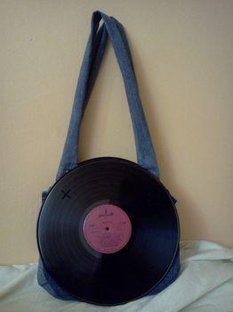 Vinyl Record Bag  Based on Vinyl Record Bag by Jenny Moustache: Jenny Moustache