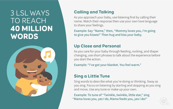 To help children with hearing loss hear 40 million words before entering school, talk with them using their name, use short phrases to describe experiences, and sing your words when describing what you're doing or thinking.