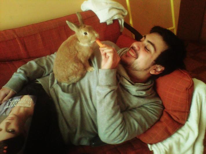 Maria Constanza (con_constancia) en Twitter       Mi mejor amigo y mi conejo