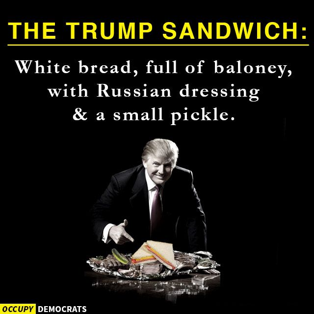 Funny Donald Trump Memes: The Trump Sandwich...  I do not go for this type of jokes , but , this one is making me laugh uncontrollably ...:-)))))