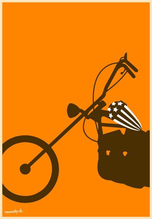 """""""Easy Rider"""" - Størrelse: 70cm x 100cm / A3"""