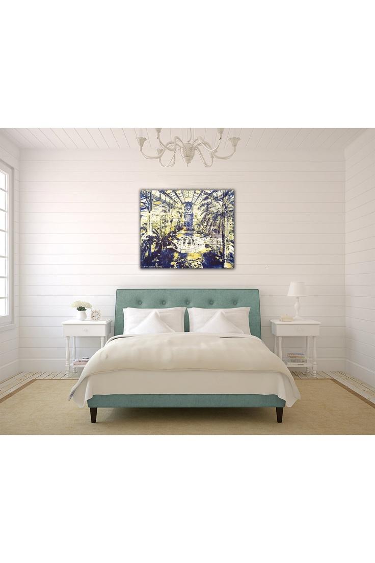 Art in the bedroom.