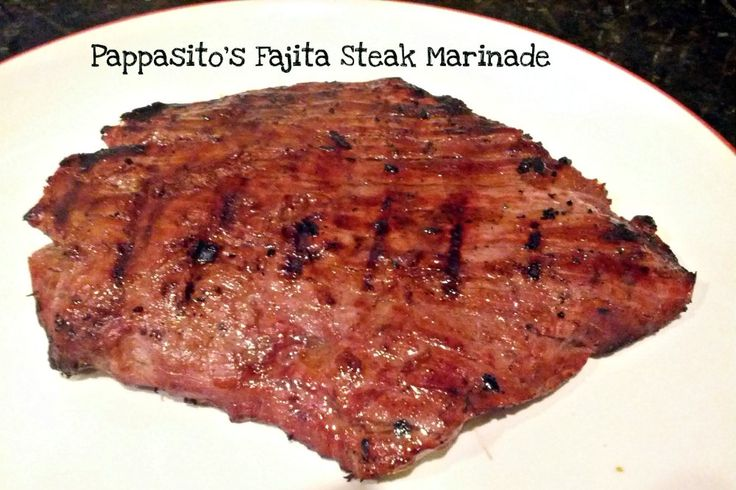 Pappasito's Fajita Steak Marinade Recipe! Tastes like the steak fajitas from the restaurant, but at a quarter of the price. Only 2 ingredients to make this marinade!