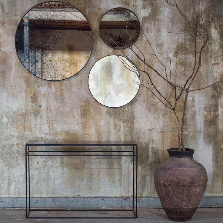 Des miroirs effet oxydé, Notre Monde - Marie Claire Maison