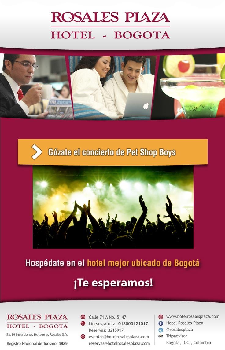 Disfruta del Concierto de Pet Shop Boys y hospédate en el hotel mejor ubicado de Bogotá