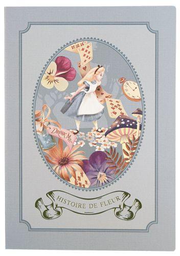 ピレアグラウカ ノート A5 フレーム アリス 『不思議の国のアリス』の雑貨シリーズ アリス・イン・ワンダーランド   - SelectShop W