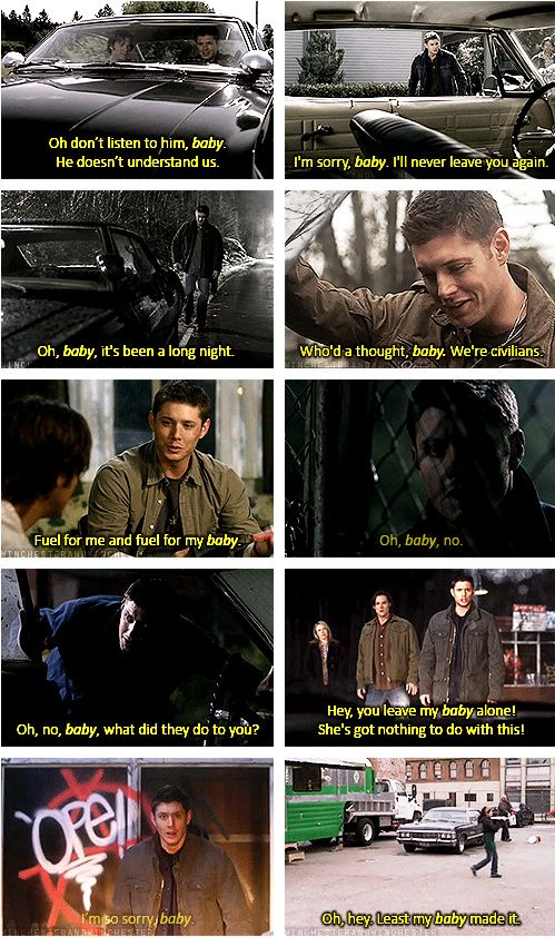 [GIFSET] Dean's love for Baby through the seasons....