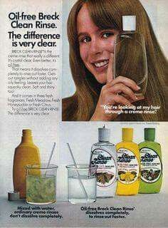 Oil-Free Breck Clean Rinse, 70's