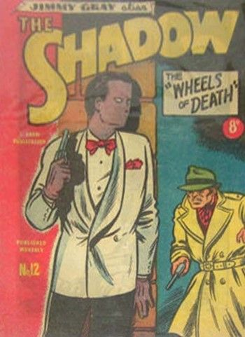 Wheels of Death—The Shadow (Frew, 1950 series) #12  ([1951?])