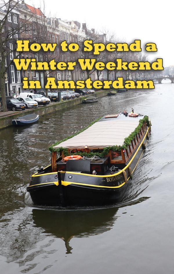 Awesome stuff for guys to do on a winter weekend in Amsterdam