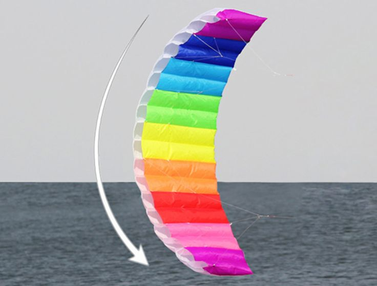 I Am A Bird Rainbow Sports Beach Sailing Dual Line 1.4M Parafoil Kite Kitesurf