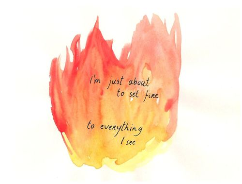 """I'm just about to set fire to everything I see. Part lyrics of """"age of desire"""" by John Mayer"""