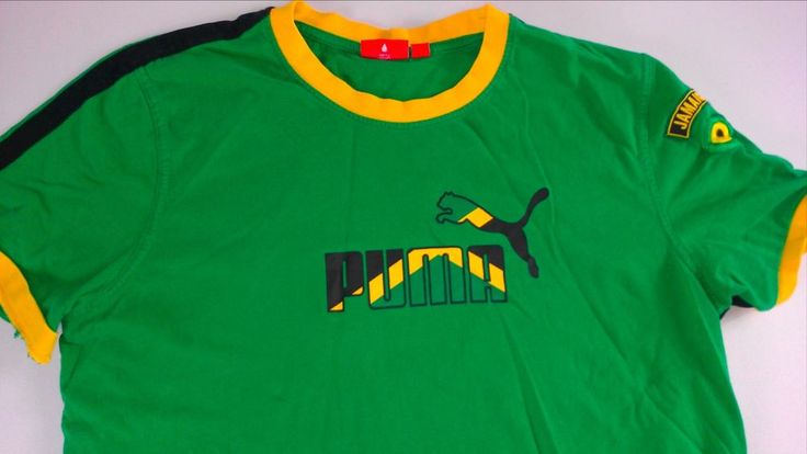 #Puma #Jamaica Muscle Shirt Mens SZ S/M Embroidered Cotton Tee Green Yellow Black http://www.ebay.com/itm/-/301598416083?roken=cUgayN&soutkn=XBA4lB #clothes #thrifting #shopping #ebay