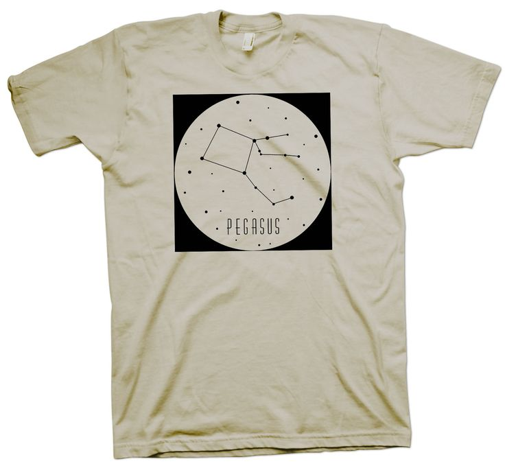 Pegasus Constellation T-Shirt, Nerd Science Geek Tee Astronaut Astronomy - T-Shirts