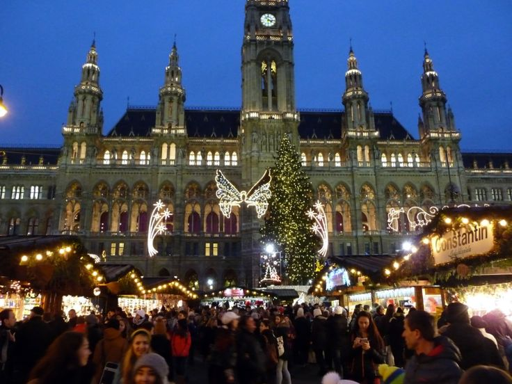 Viking Christmas River Cruise: The Vienna Christmas Market set in front of the Vienna City Hall