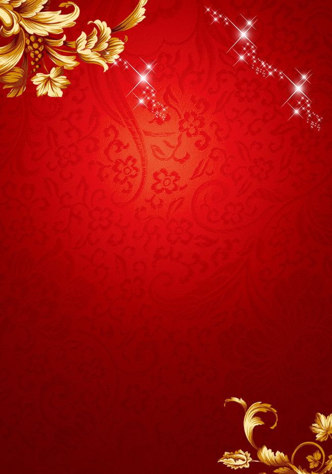 chinese new year red floral pattern background