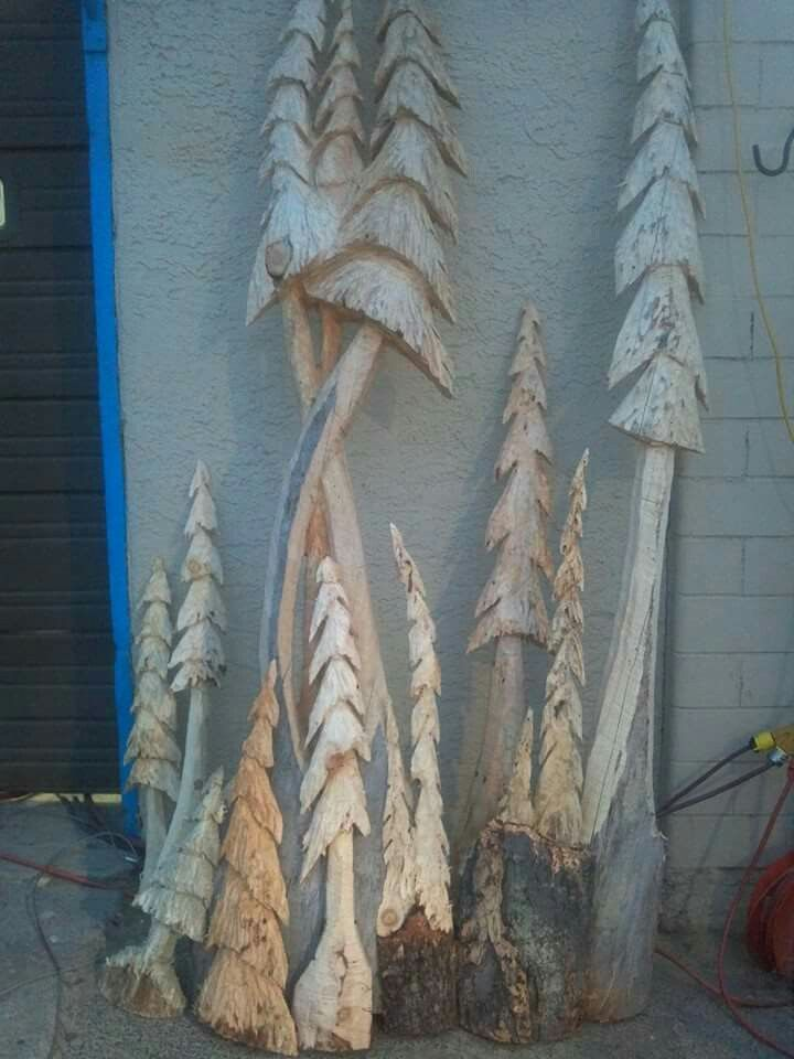 Carved trees fun with wood pinterest natural crafts