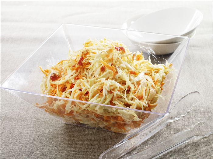 Need a quick side dish? This coleslaw is ready to eat in just 10 minutes!