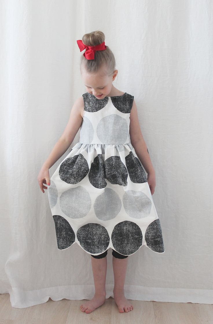 Hem makes all the difference! A dress made of old tablecloth.