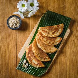 Apam Balik, Malaysia: These griddle cakes also known as turnover pancakes are found across all sorts of street markets across Malaysia and tend to have a crispy exterior and soft centre. Typically filled with ground roasted peanuts, sweetened dried coconut. banana and sugar, you may also find them with a chocolate filling. http://www.virginholidays.co.uk/destinations/asia-&-far-east/malaysia-holidays
