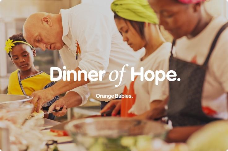 Dinner of Hope 2013 is gestart!  In de maand mei kun je een inzamelingsdiner organiseren voor Orange Babies!
