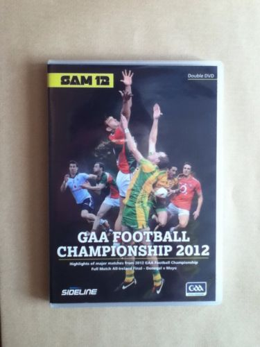 GAA Football Championship 2012 DVD 2 Disc Set Ireland. Highlights of the Gaelic Games football competition 2012 along with the full game of Donegal against Mayo. Great DVD set with 4 hours of coverage on 2 discs.
