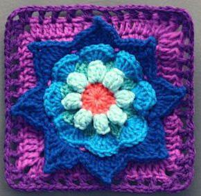Blooming Daydreams Granny Square | AllFreeCrochetAfghanPatterns.com