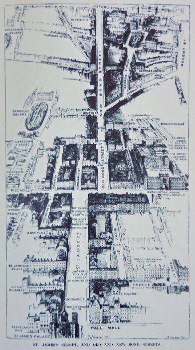 London Gentlemen's Clubs Map
