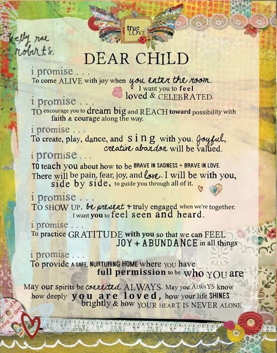 The Dear Child manifesto is for anyone (teachers, grands, caregivers, parents) welcoming a child into their spaces. I think of it as a love letter to children. They are precious, deserving, and in big need of our welcoming hearts, always. Though I'm far from perfect, this manifesto is a guide for me as I strive to do my best when it comes to caring for one precious three year old.